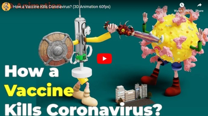 How corona vaccine kills Corona Virus Explained 3D animation video by Professor of How